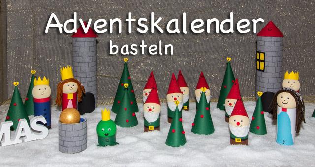 DIY Adventskalender basteln - Märchenwald zum Serlbermachen