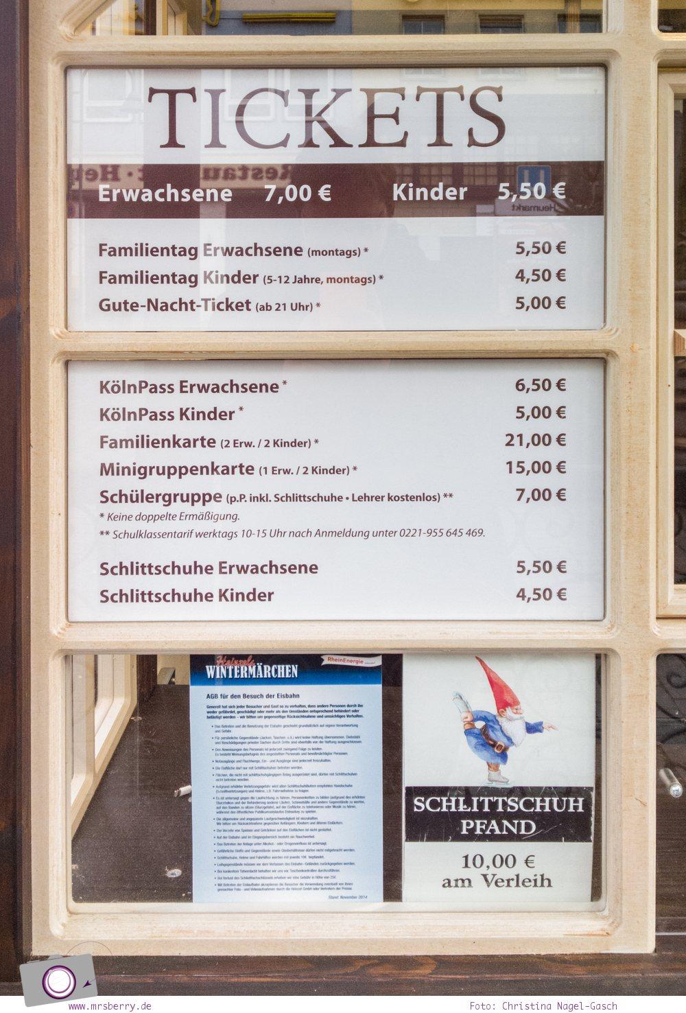 Eislaufen auf dem Weihnachtsmarkt in der Kölner Altstadt - Preise zum Schlittschulaufen