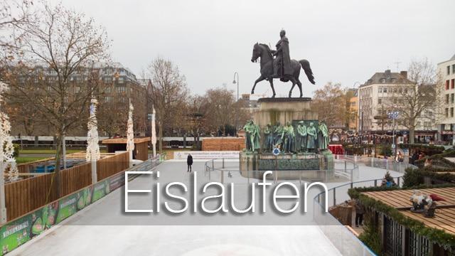 """Eislaufen auf dem Weihnachtsmarkt in der Kölner Altstadt - """"Heimat der Heinzel"""""""