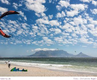 Südafrika: Sightseeing in Kapstadt - Tafelberg von Dolphin Beach