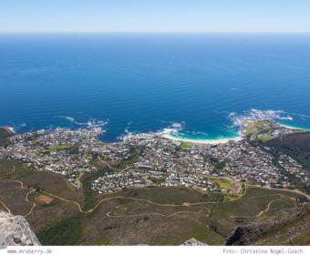 Südafrika: Sightseeing in Kapstadt - Ausblick vom Tafelberg
