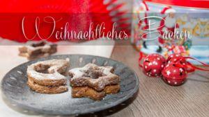 Weihnachtliches Plätzchen-Backen: Rezept für Linzer-Sterne und Orangen-Kokos-Makronen