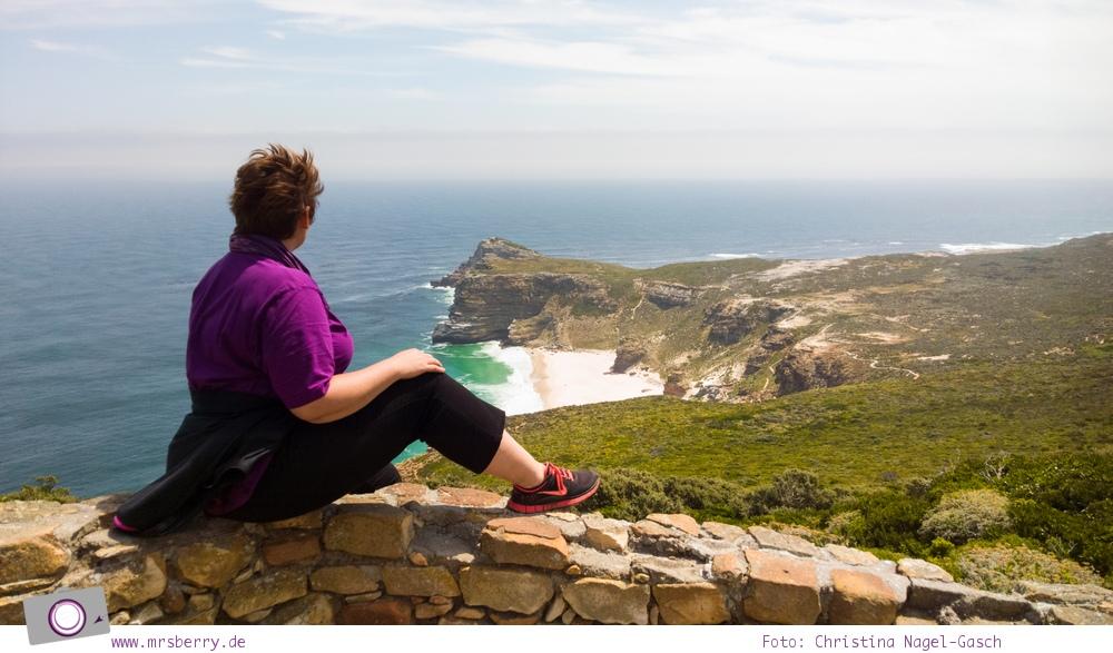 Südafrika: am alten Leuchtturm von Cape Point - Blick auf Diaz Beach und Cape of Good Hope