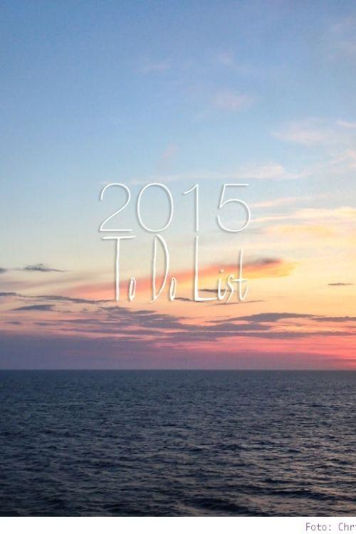 Meine To Do List für 2015