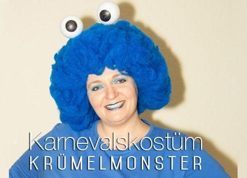 Kostüm für Karneval: Krümelmonster zum selber machen