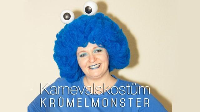 Kostüm für Karneval: Krümelmonster selber machen