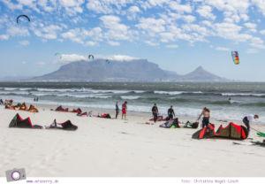 Südafrika Westkap: Bloubergstrand mit dem schönsten Tafelberg Blick