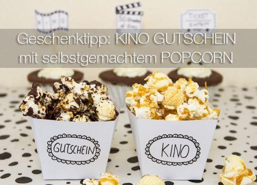 Geschenktipp DIY: Kino Gutschein mit selbstgemachtem Popcorn