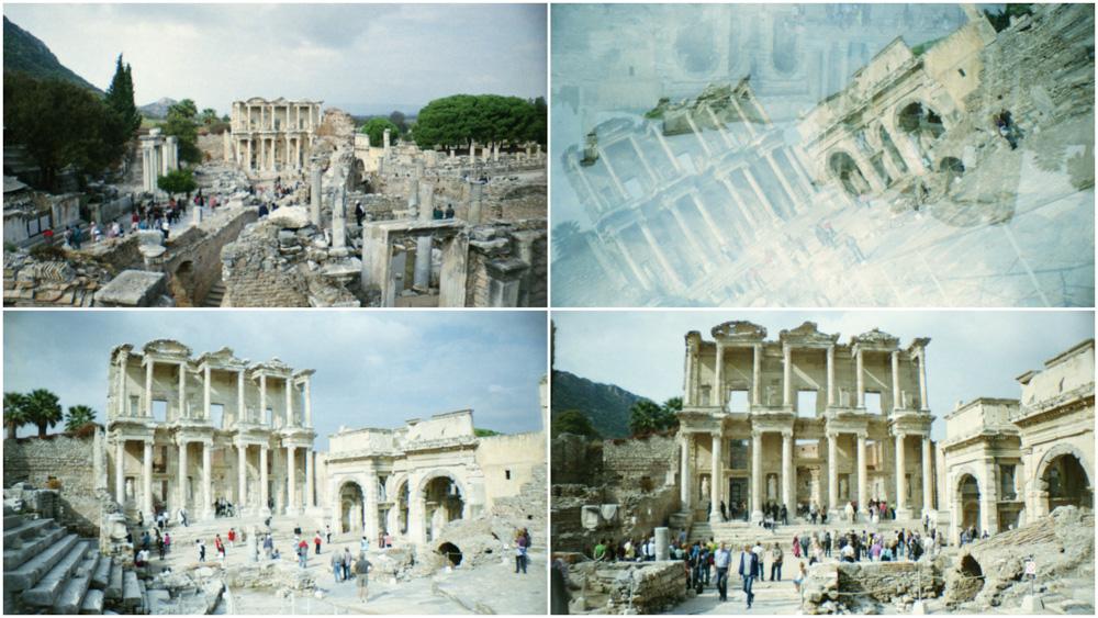 Lomography mit der La Sardina in der Türkei - Unesco Welterbe Ephesos mit Celsus Bibliothek