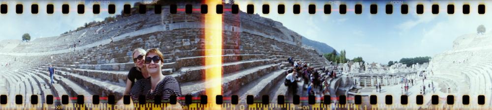 Lomography mit der Spinner 360 Grad in der Türkei - Unesco Welterbe Ephesos mit dem großen Theater