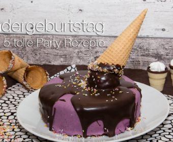 Sweet Table - 5 tolle Rezepte zum Kindergeburtstag: Schokoladenkuchen mit Eiswaffel
