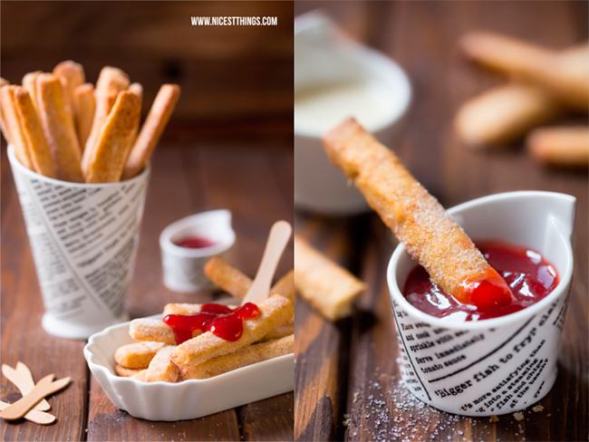 Rezept für Süße Pommes mit Erdbeersauce von Nicest Things