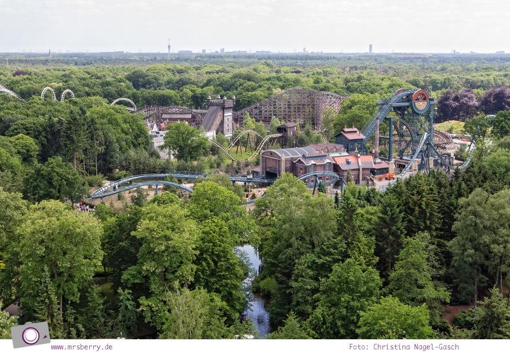 Familienurlaub im Ferienpark und Freizeitpark Efteling: Ausblick von der Pagode
