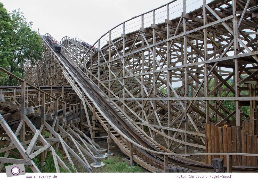 Familienurlaub im Ferienpark und Freizeitpark Efteling: Joris en de Draak – das Wettrennen der Holzachterbahnen