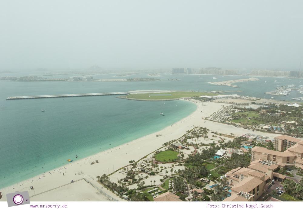 Fernseisen - Dubai mit Kind: JA Oasis Beach Tower mit Ausblick von der 37. Etage auf Palm Jumeirah