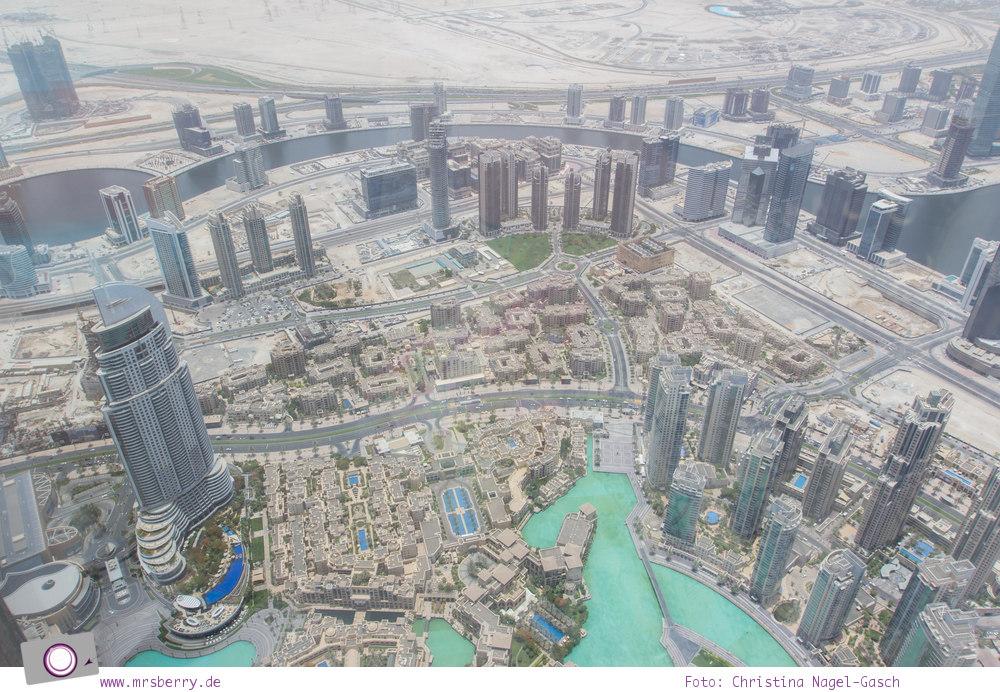 Fernreisen - Dubai mit Kind: Blick von der Aussichtsplattform des Burj Khalifa