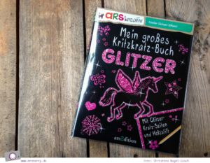 Was kommt in die Schultüte? 6 kreative Geschenke zum Schulanfang: Mein großes Kritzkratz-Buch Glitzer