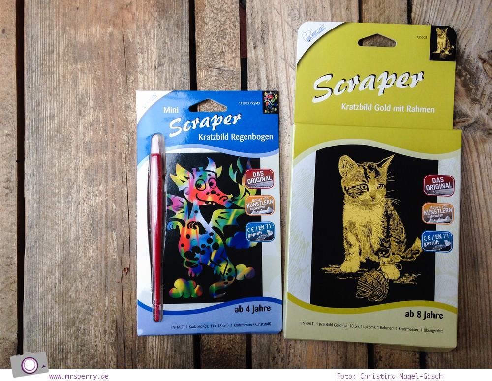 Was kommt in die Schultüte? 6 kreative Geschenke zum Schulanfang: Mini Scraper Regenbogen Drache oder Scraper Gold - Katze