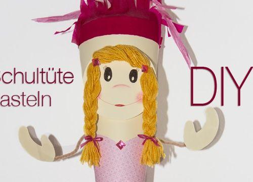 Schultüte basteln: Prinzessin Zuckertüte zum Schulanfang
