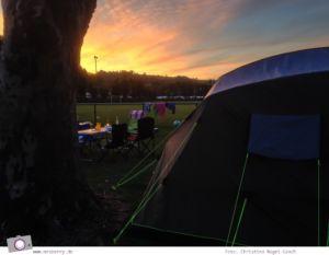 Camping mit Kindern in der Eifel - Prümtal Camping Oberweis: Sonnenuntergang
