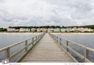Usedom - Ausflüge für Familien und Kinder: eine Radtour durch die drei Kaiserbäder - Zwischenstopp an der Seebrücke