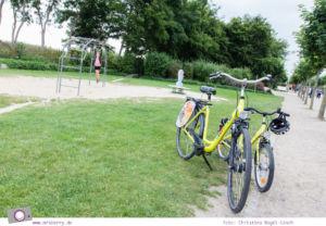 Usedom - Ausflüge für Familien und Kinder: eine Radtour durch die drei Kaiserbäder - Zwischenstopp am Spielplatz
