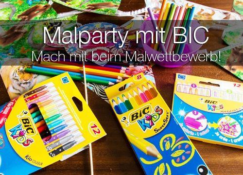 Tierische Malparty mit BIC – Macht mit beim Malwettbewerb!