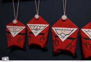 Adventskalender selber machen: basteln mit Klorollen -Weihnachtsmann aus Klorollen basteln