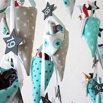 Adventskalender selber machen - die schönsten Ideen: spitze Tütchen nähen