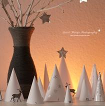 Adventskalender selber machen - die schönsten Ideen: Papierwald