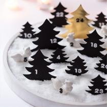 Adventskalender selber machen - die schönsten Ideen: Winterlandschaft zum Buddeln