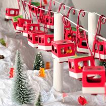Adventskalender selber machen - die schönsten Ideen: Seilbahn mit Winterlandschaft