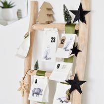 Adventskalender selber machen - die schönsten Ideen: Adventsleiter mit gefüllten Tütchen