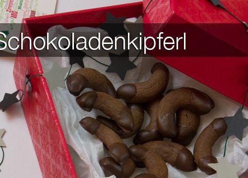 Weihnachts-Bäckerei: Schokoladenkipferl