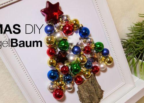 XMAS DIY: der Kugelbaum oder ein Tannenbaum aus Weihnachtskugeln
