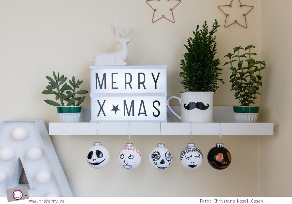 weihnachtsdeko diy: weihnachtskugeln selbst bemalen | mrsberry, Innenarchitektur ideen