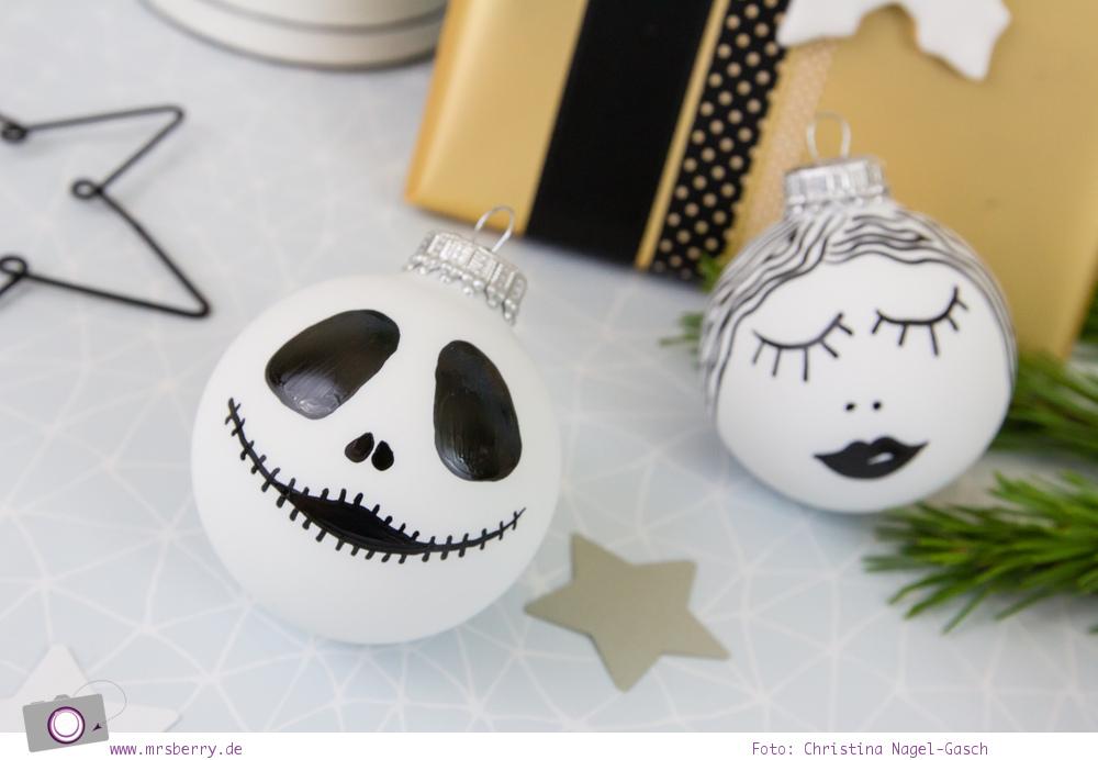 Weihnachtsdeko DIY: Weihnachtskugeln selbst bemalen