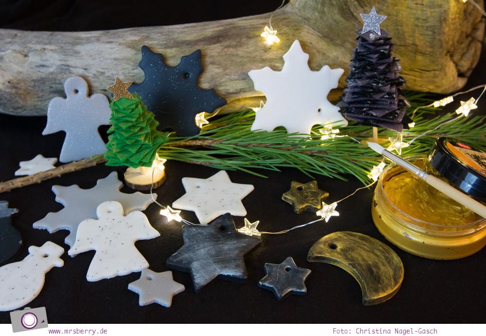 Geschenke schön verpacken - Weihnachtsanhänger / Geschenkanhänger aus Fimo selber basteln