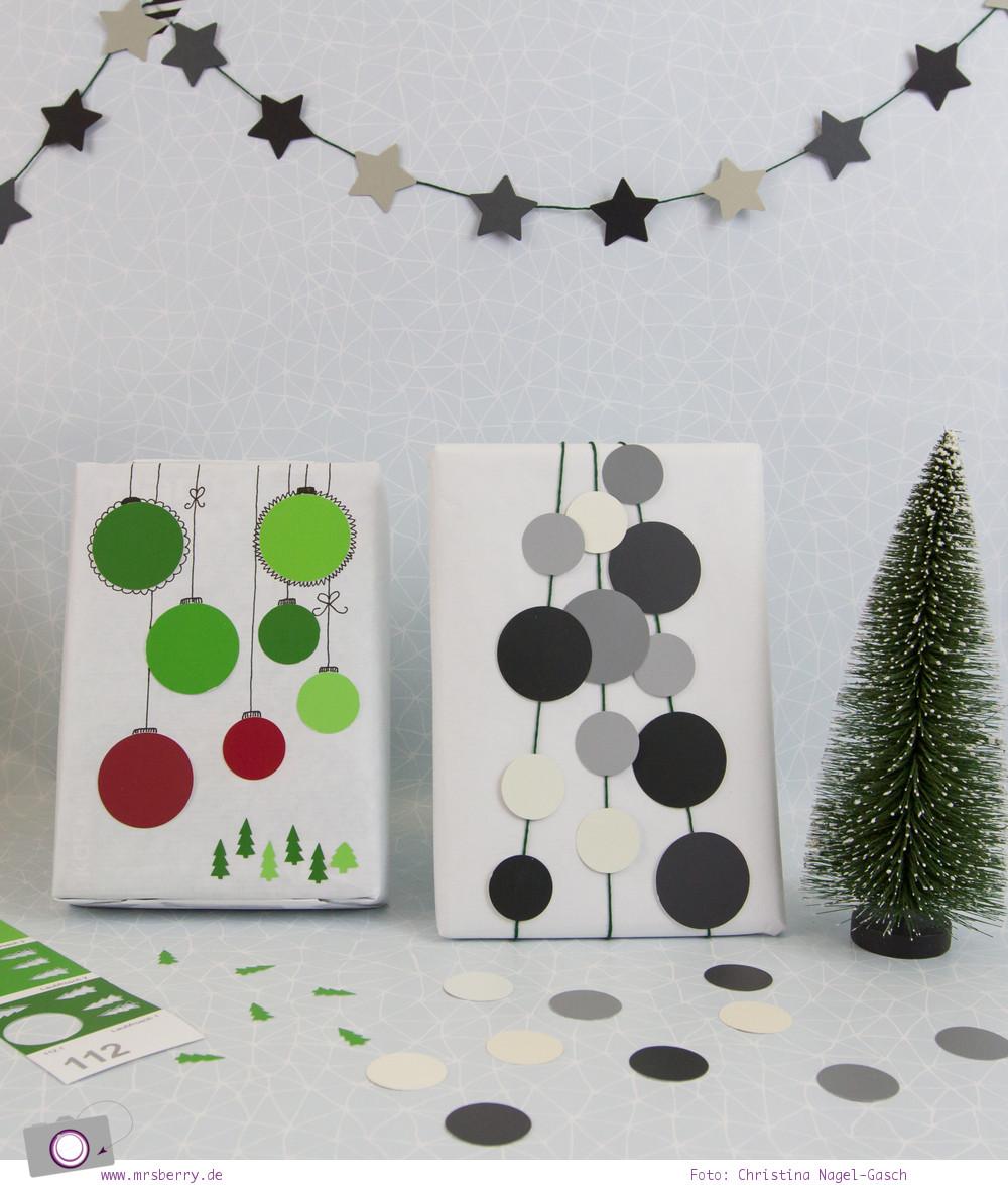Geschenke schön verpacken - Weihnachtsgeschenke in Weiß, Schwarz, Grau und Grün