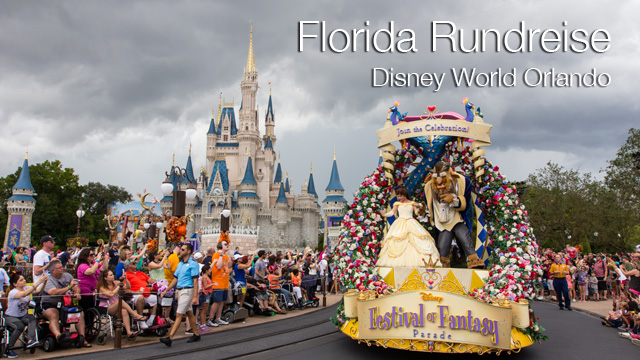 Familienurlaub in den USA - Florida Rundreise: Disney World in Orlando - Magic Kingdom, Festival of Fantasy Parade