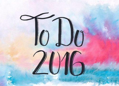 To Do List für 2016
