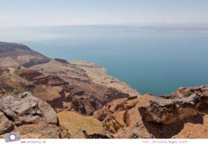 Rundreise Jordanien - ein Reisebericht: Dead Sea Panorama Complex - spektakuläre Aussicht auf das Tote Meer