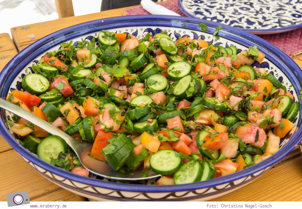 Rundreise Jordanien - ein Reisebericht: Arabisch kochen in der Kochschule Beit Sitti in Amman - hier ein Salat