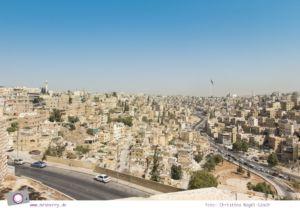 Rundreise Jordanien - ein Reisebericht: Besuch des Zitadellenhügel in Amman mit Ausicht auf Amman