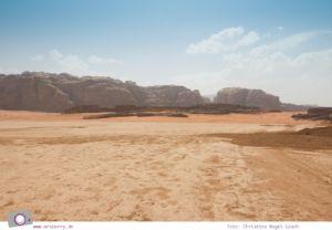 """Rundreise Jordanien - ein Reisebericht: Jeep-Safari durch das """"Tal des Mondes""""   Wadi Rum"""
