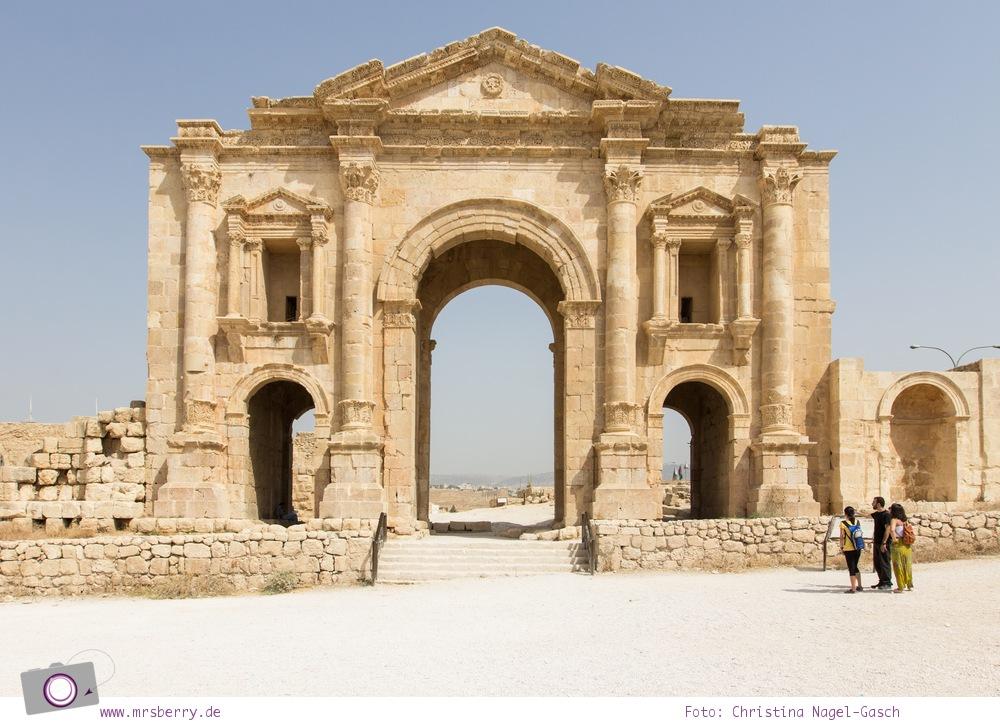 Rundreise Jordanien - ein Reisebericht: historische Stadt Jerash (Gerasa) - Triumphbogen