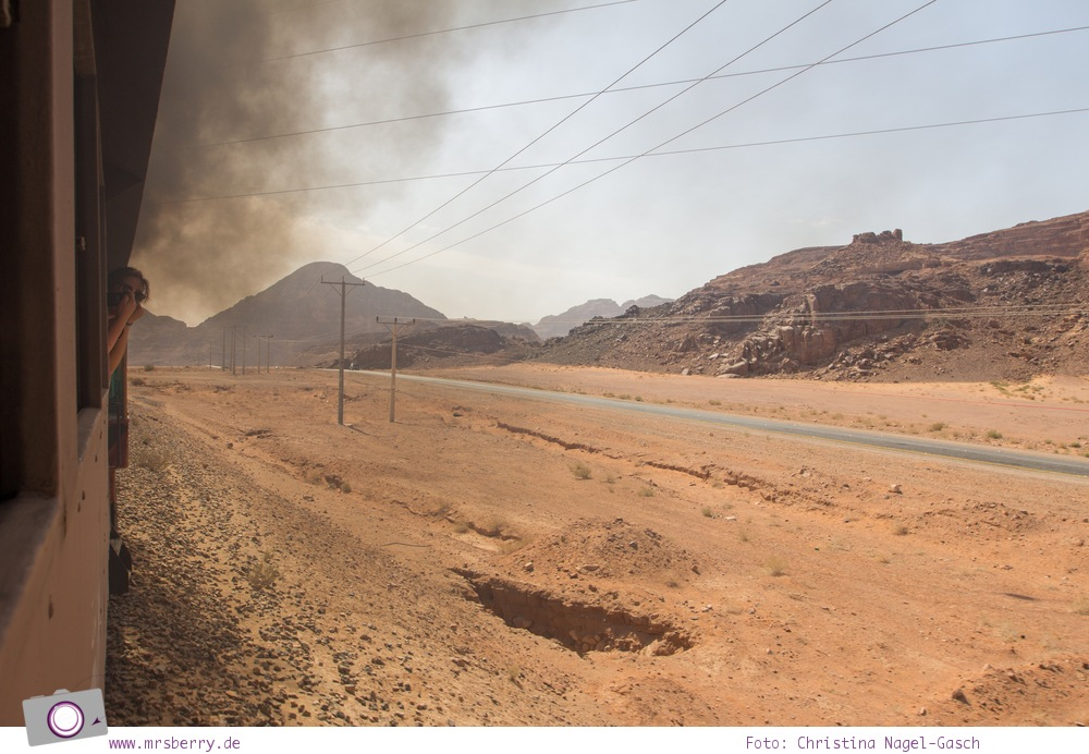 Rundreise Jordanien - ein Reisebericht: Die Geschichte der Hedschasbahn am Wüstenbahnhof der Hedjaz Train Station