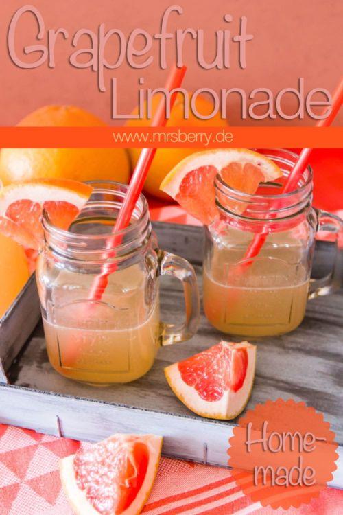 Limonade selber machen: fruchtig herbe Grapefruit Lemonade
