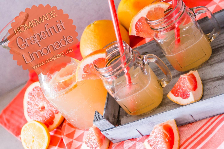 Limonade selber machen - Grapefruit Lemonade (Limo selber machen)