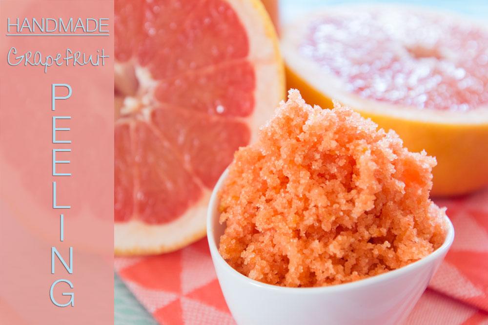 Peeling selber machen: Grapefruit-Zucker-Peeling (Gesichtspeeling, Körperpeeling, selbstgemacht)